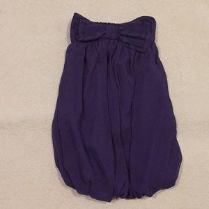 Dresses & Skirts - DARK PURPLE MINI DRESS